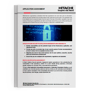 Hitachi Systems Security - Application Assessments Brochure