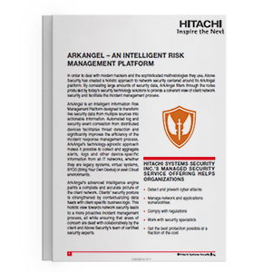 Hitachi Systems Security - ArkAngel Brochure