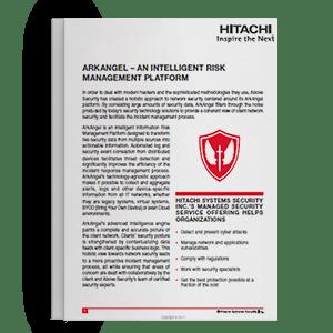 Hitachi Systems Security - ArkAngel Data Sheet