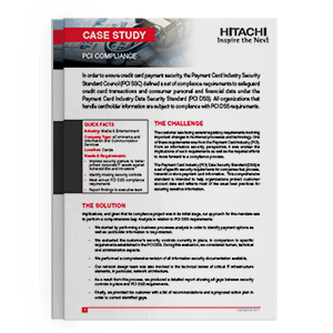 Hitachi Systems Security - Case Study PCI Compliance