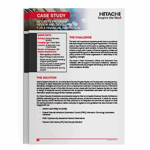 Hitachi Systems Security - Security Program Review and Development