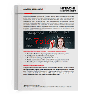 Hitachi Systems Security - Control Assessments Brochure