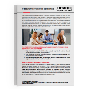 Hitachi Systems Security - IT Security Governance Consulting Brochure