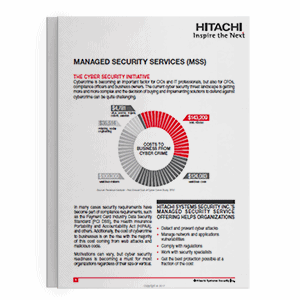 Hitachi Systems Security - MSS Brochure
