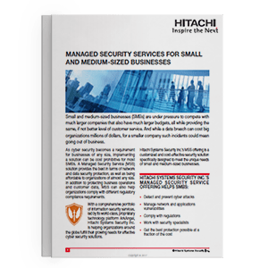 Hitachi Systems Security - MSS for SMB