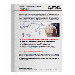 Hitachi Systems Security - Security Program Review and Development Brochure